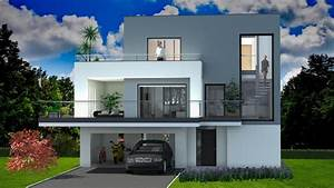 Maison Contemporaine - Concept Plan 3d