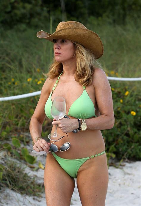 Ramona Singer In Bikini At A Beach In Miami Hawtcelebs