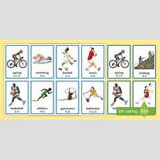 * New * Sports Flashcards Englishmandarin Chinese  Sports,german, Deutsch