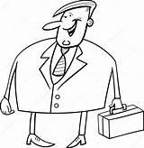 Coloring Businessman Fat Illustration Categories Depositphotos Adult sketch template