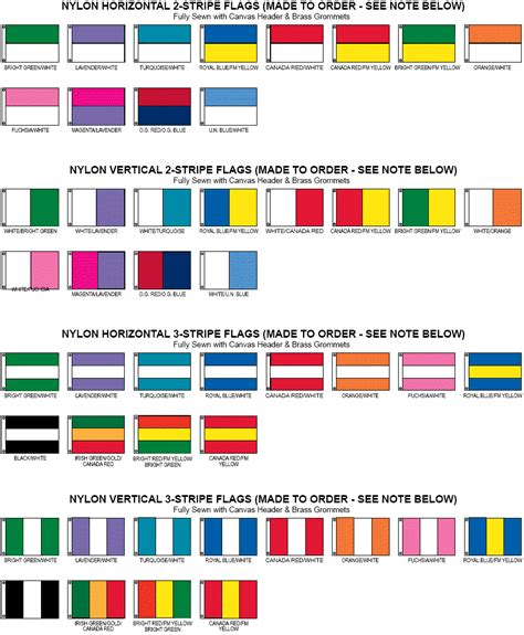 flag colors blank flags solid color flags and pennants