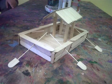 How To Make A Boat Using Craft Sticks by Flatboat Popsicle Style Craft Stick Boats Floats