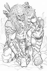 Predator Coloring Pages Vs Alien Aliens Printable Drawings Deviantart Tattoo Sketches Adult Boys Tribute Drawing Avp Sheets Hunter Xenomorph Versus sketch template