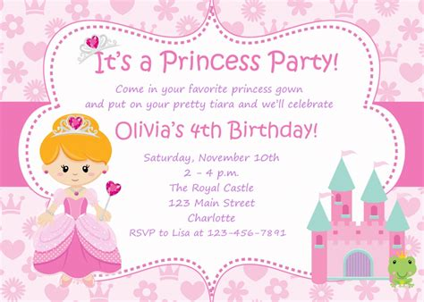 Princess Invites Free Templates by Disney Princess Invitations Free Templates Disney