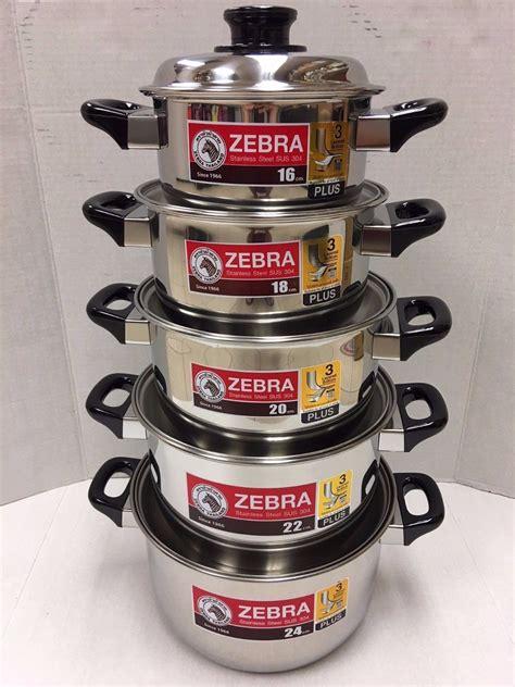 zebra stainless steel pot lid cookware