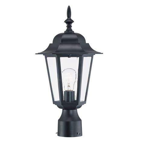 post lights lowes shop acclaim lighting camelot 16 75 in h matte black post