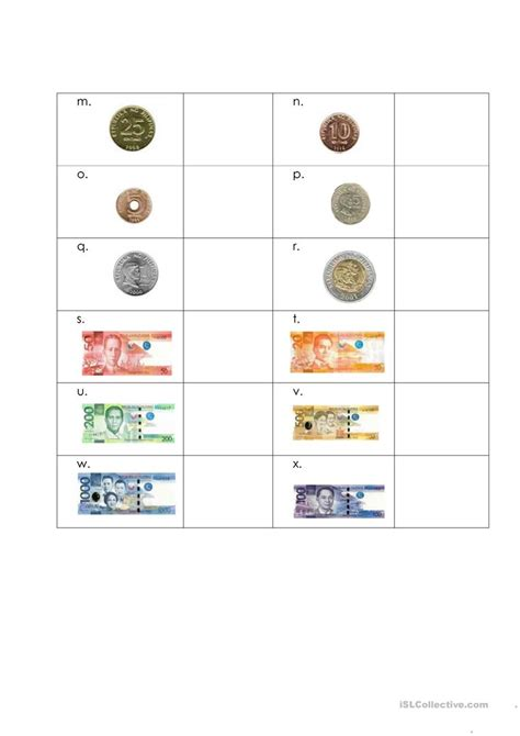 philippine coins and bills worksheets for grade 3 rhea coin location games