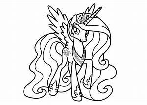 Coloriage Princesse Celestia Imprimer