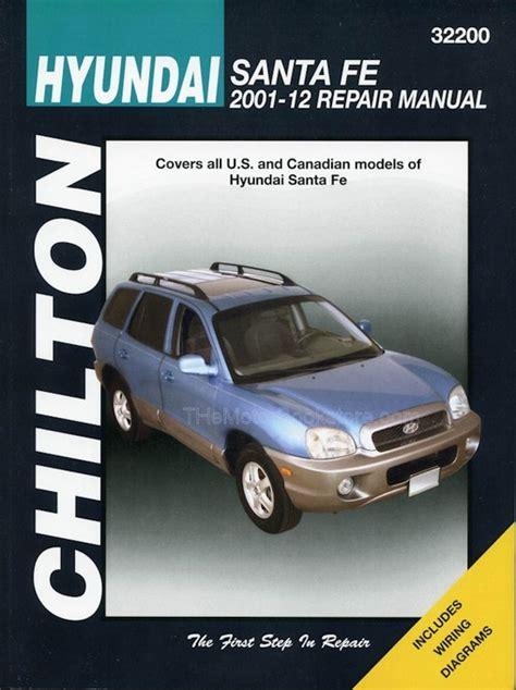 motor auto repair manual 2012 hyundai santa fe instrument cluster hyundai santa fe repair manual 2001 2012 chilton 32200