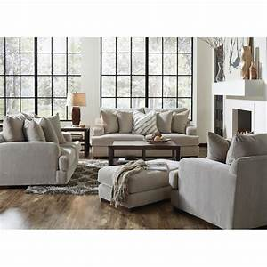 Gabrielle living room sofa loveseat cream 334603 for Loveseat living room