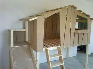 Lit Cabane Bebe : lit toboggan pour enfant cabane en bois sur mesure clair de lune nord loft pinterest ~ Teatrodelosmanantiales.com Idées de Décoration