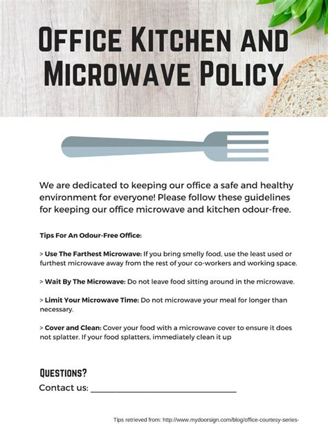 Office Kitchen Etiquette Signs by Office Microwave Policy And Signs Kitchener Clean