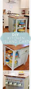 Diy, Kitchen, Island, Cart, How, To, And, Plans, For, Building, A, Kitchen, Island, On, Wheels, Island, With
