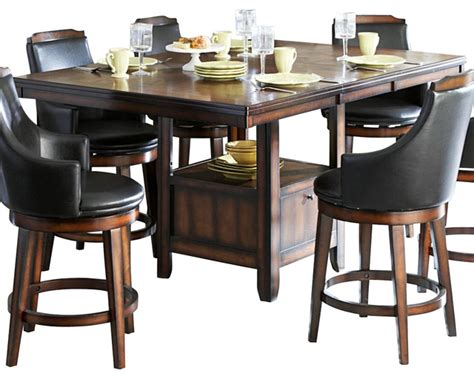 farm table dining room homelegance bayshore extension counter height table with