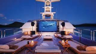 outdoor cinemas  luxury yachts boat international