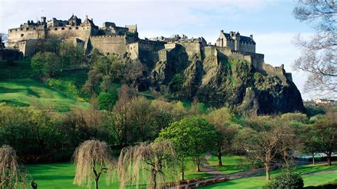 full hd wallpaper scotland side view castle edinburgh wall