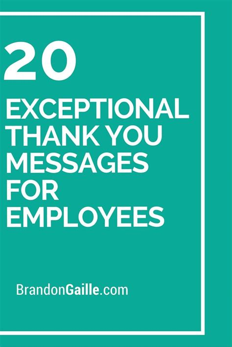 21 Exceptional Thank You Messages For Employees  Leadership Pinterest