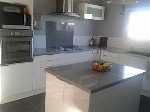 carrelage cuisine gris et blanc With cuisine blanc et gris