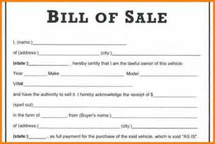 Template For A Bill Of Sale by Bill Of Sale Word Document Vlashed