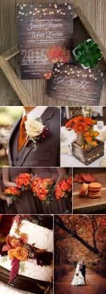 fall wedding ideas ten beautiful fall wedding invitations to match your wedding colors