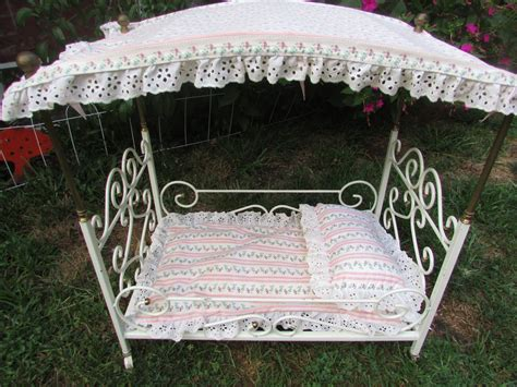 vintage wrought iron baby doll canopy bed