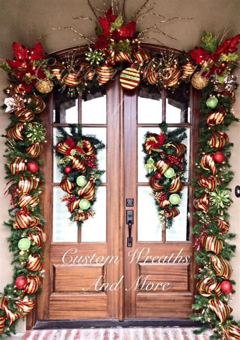 door garland with lights best 25 front doors ideas on traditional decor beautiful