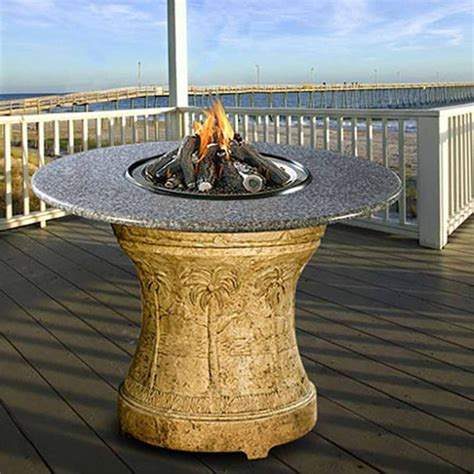 fire pit bar table palm bar height multifunctional gas logs fire pit table