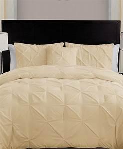Vcny, Home, Carmen, Pintuck, 4, Piece, Comforter, Set, Queen