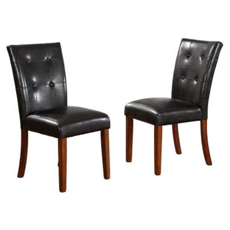 home decorators collection 18 in h black tufted leather