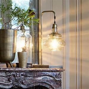 Lampe Globe Verre : lampe poser vintage obvious be pure en m tal laitonn antique globe verre decoclico ~ Teatrodelosmanantiales.com Idées de Décoration