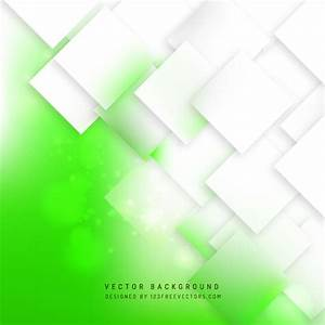 Abstract White Green Square Background Design | 123Freevectors