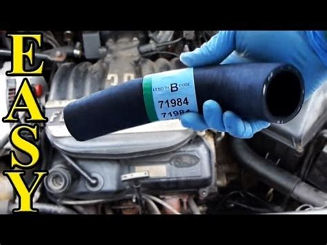 replace  radiator hose upper   youtube