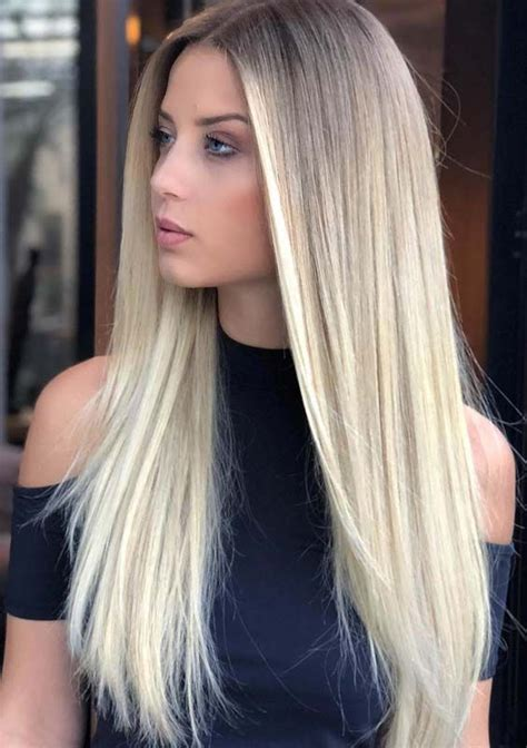 32 gorgeous long sleek straight blonde hairstyles for 2018
