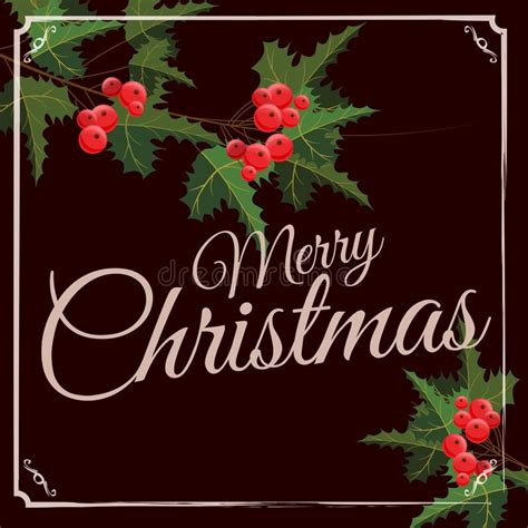 Seeking for free merry christmas png images? Merry Christmas And Happy New Year Greeting Card With ...