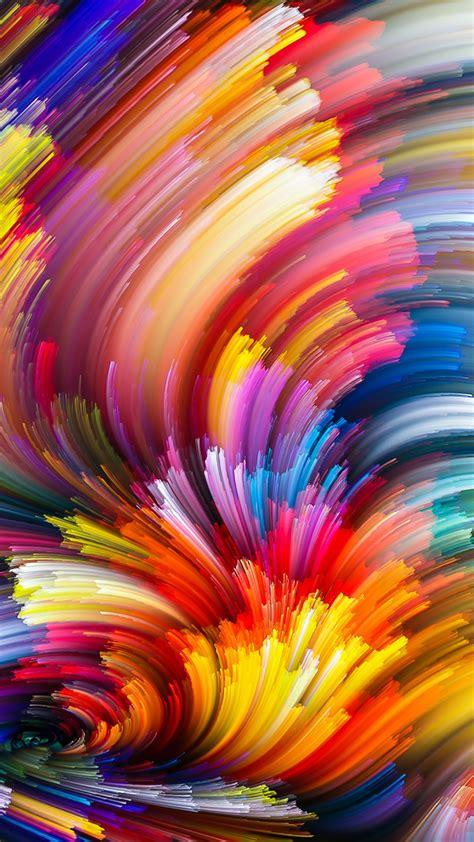 Wallpaper Texture Multicolor Abstract art 1080x1920