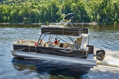 deck pontoon boat with slide premier introduces two story escalante pontoon newswire