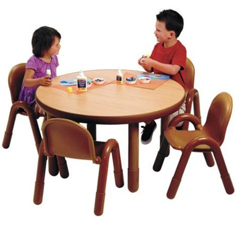 angeles 174 baseline 174 preschool table and 4 chair set