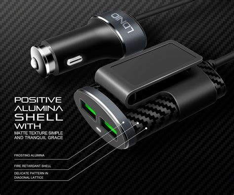 Ldnio C502 5.1a 4 Ports Usb Car Charger With Extension