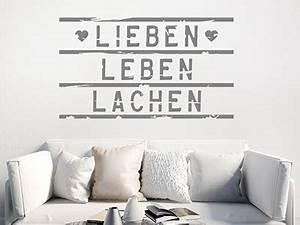 Lieben Leben Lachen : wandtattoo worte begriffe rund ums wohnen ~ Orissabook.com Haus und Dekorationen