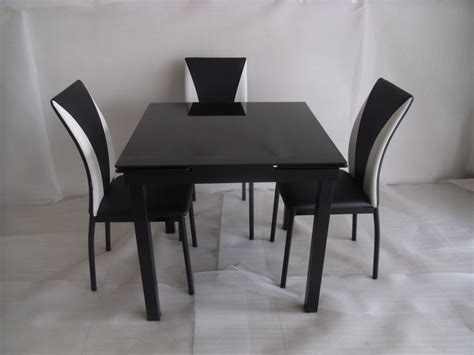 modico glass extending dining table and 4 chairs faux