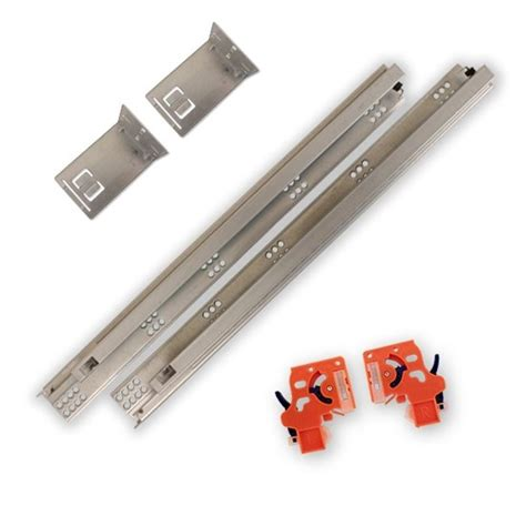 21 In Soft Close Full Extension Undermount Drawer Slides