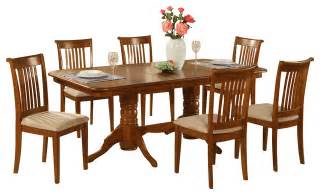Dining Room Sets For 6 7 Pc Dining Room Set Table With A Leaf And 6 Chairs For Dining Traditional Dining Sets By