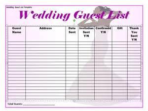 wedding guest list 35 beautiful wedding guest list itinerary templates