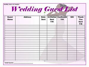 37 free beautiful wedding guest list itinerary templates With wedding invitations guest list templates