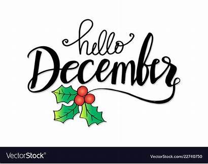 December Hello Lettering Dicembre Greeting Catasauqua Card