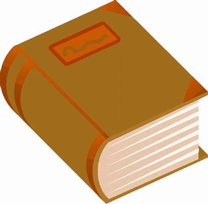 Thick Cartoon Clipart Books Orange Stone Comic
