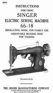 C1945 Singer Sewing Machine Manual 6618 Book By