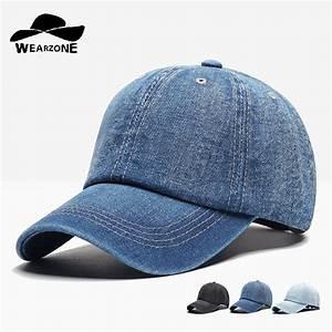 Denim Baseball Cap Men Snapback Caps Brand Bone Hats For Women Jeans Denim Blank Gorras ...