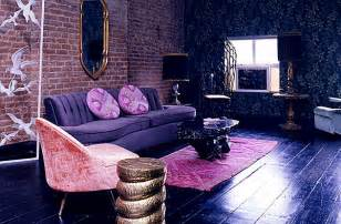 purple livingroom dazzling toned decor