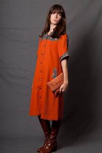robe rouille seventies With robe rouille
